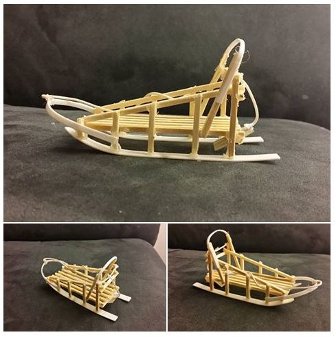 Schlittenhundegespann Mit Modellfiguren Von Amatao