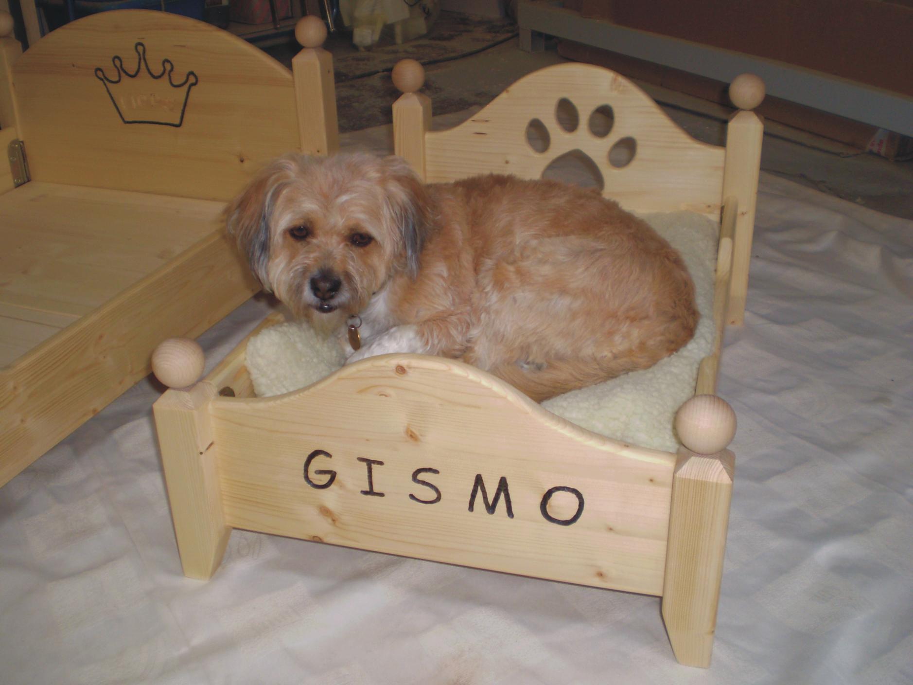 hundebett aus holz hundebett mit polster beige krines home d d heartfelt wooden crate. Black Bedroom Furniture Sets. Home Design Ideas