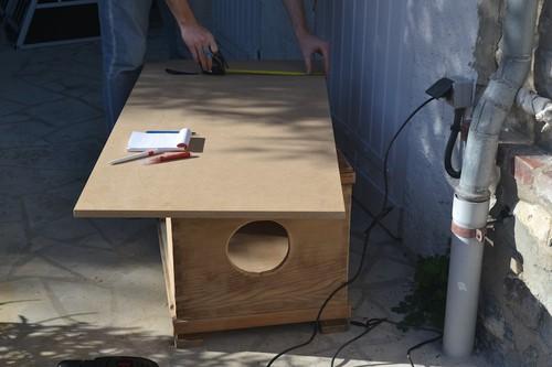 hundeh tte aus alter holzkiste von corinna. Black Bedroom Furniture Sets. Home Design Ideas