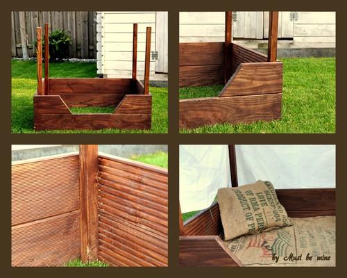 hundebett aus holz terrassenreste von mustbemine. Black Bedroom Furniture Sets. Home Design Ideas